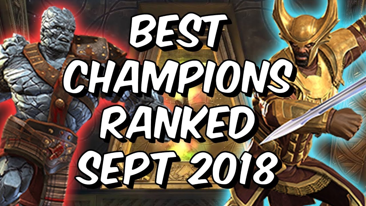 5acb295a527d Best Champions Ranked September 2018 - Seatin s Tier List - Marvel Contest  Of Champions