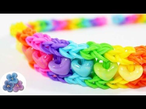 How To Make Rainbow Headbands Without Loom Tutorial Rainbow Loom
