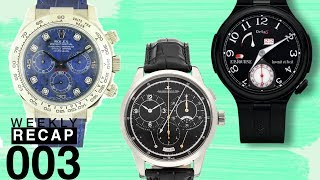 Weekly Recap: Richemont and Watchfinder, Rolex Sodalite Dial, Indy 500 Watches, and More!