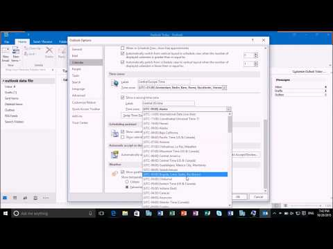 Quickly Change the TimeZone in Outlook