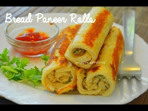 Bread Rolls Recipe / Bread Paneer Rolls / Paneer Rolls Recipe ...