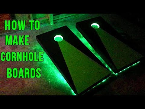 How To Make Cornhole Boards With LED Lights
