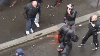 Israeli Vigilantes Attacking Pro-Palestinian Protesters in Paris [Full Video](Jewish vigilantes brandishing iron bars and cans of pepper spray took to the streets of Paris to attack pro-Palestinian demonstrators, it emerged today. (Tuesday) ..., 2014-07-15T19:46:12.000Z)