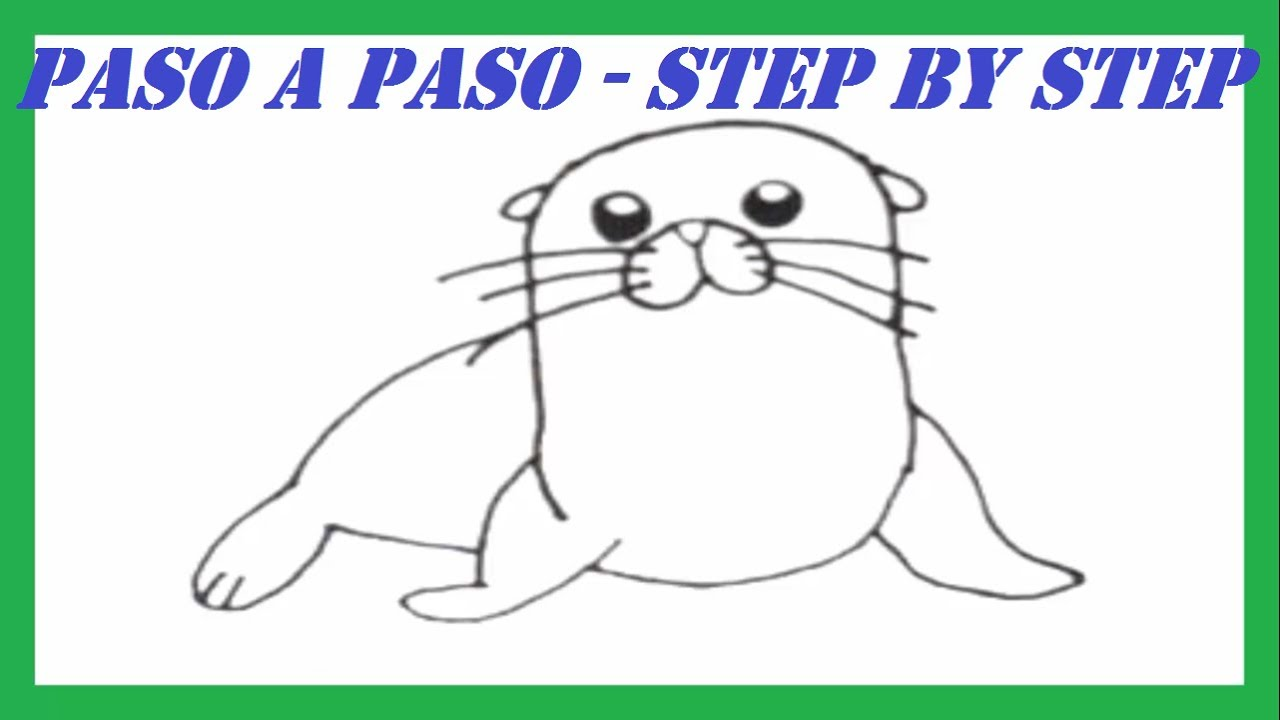 Como Dibujar Un León Marino Paso A Paso L How To Draw A Sea Lion Step By Step