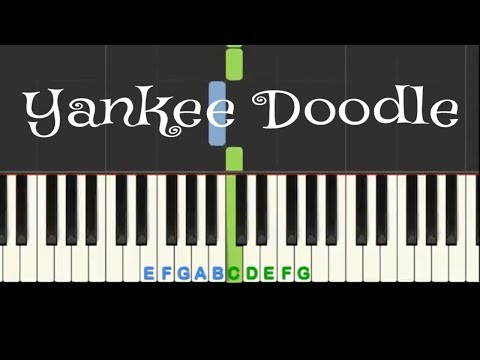 Yankee Doodle play along piano tutorial with free sheet music thumbnail