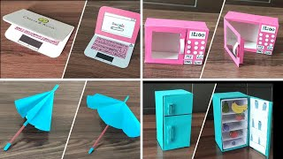 DIY - 4 Miniature Accessories - 4 Easy DIY Miniature Doll Craft - Doll house Accessories