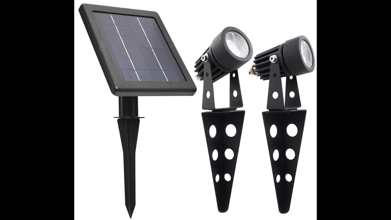 High output solar spot light - Mini 50x Twin Spotlight Part 2