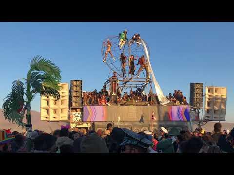 Dancing in the sunrise on Robot Heart @ Burning Man 2018
