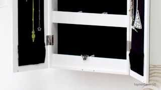 Belham Living Double Door Mirrored Wall Mount Jewelry Armoire - Product Review Video