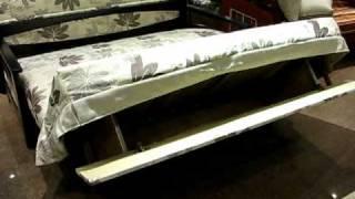 Ящик для белья в диване с механизмом аккордеон