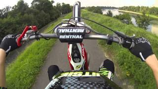 Gas Gas 125 trials bike wheelie