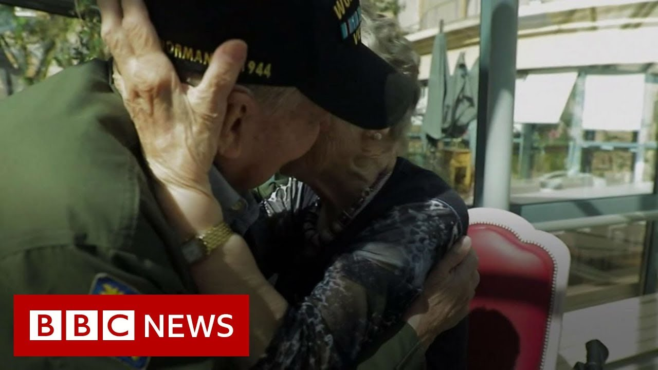 BBC News:French and american lovers reunited 75 years on from WW2 - BBC News