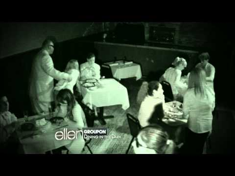 Jeannie and Amy Dine in the Dark