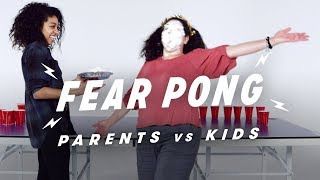 Parents & Kids Play Fear Pong (Leslie vs. Seneca) | Fear Pong | Cut
