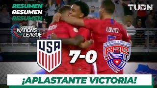 Resumen y Goles | Estados Unidos 7 - 0 Cuba | Nations League | TUDN Video