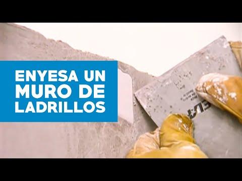 Cómo enyesar un muro de ladrillos? - YouTube