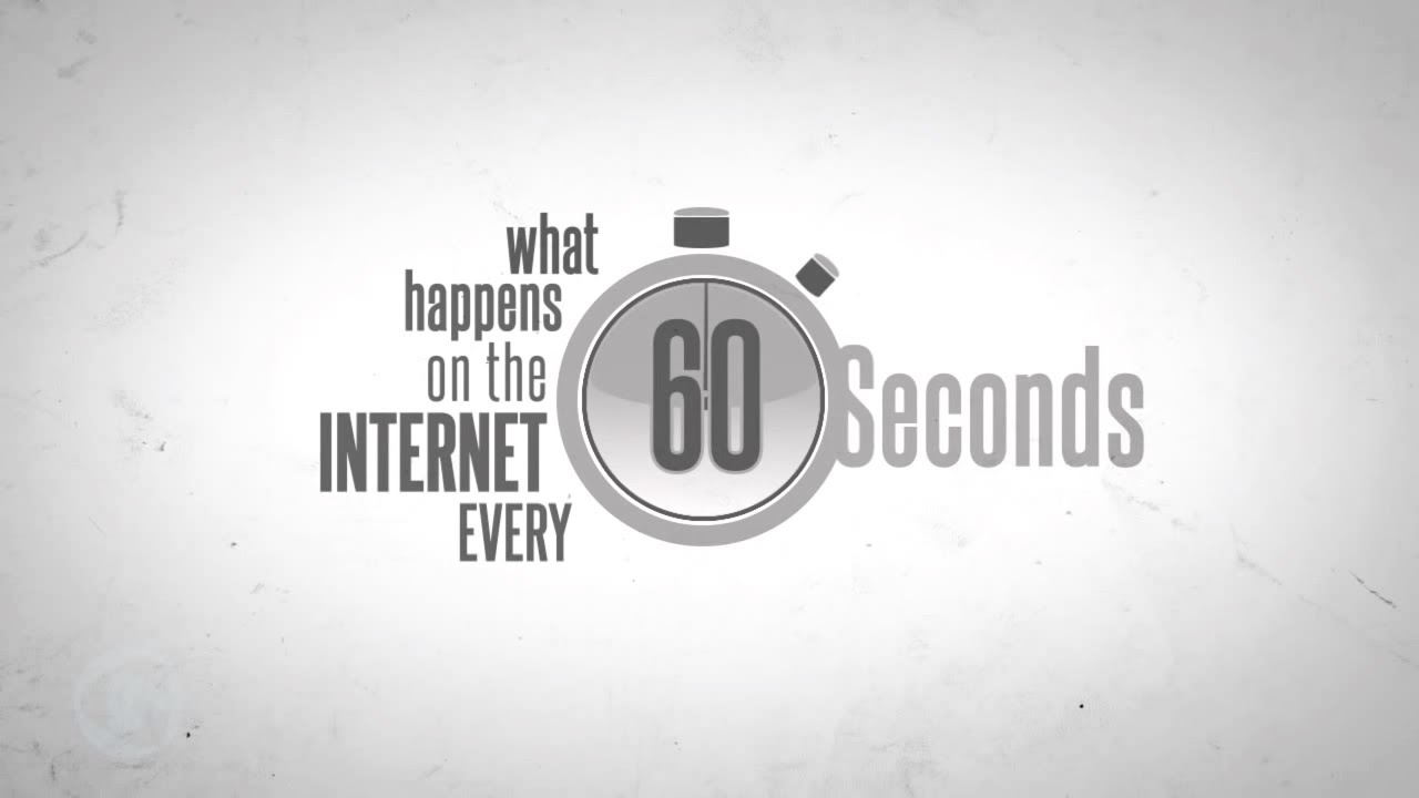 What happens on the Internet every 60 seconds - YouTube