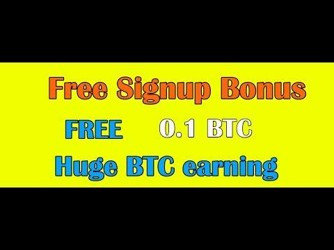 Huge Bitcoin Free Signup Bonus 0 1 BTC  0 01% Hourly Accrual