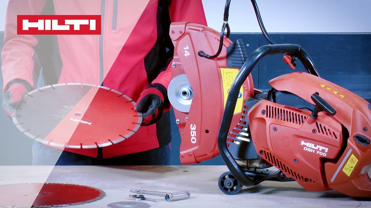How To Change The Blade On Your Hilti Dsh 700 X Dsh 900 X Gas Saw