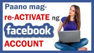 Paano mag-REACTIVATE ng FACEBOOK account