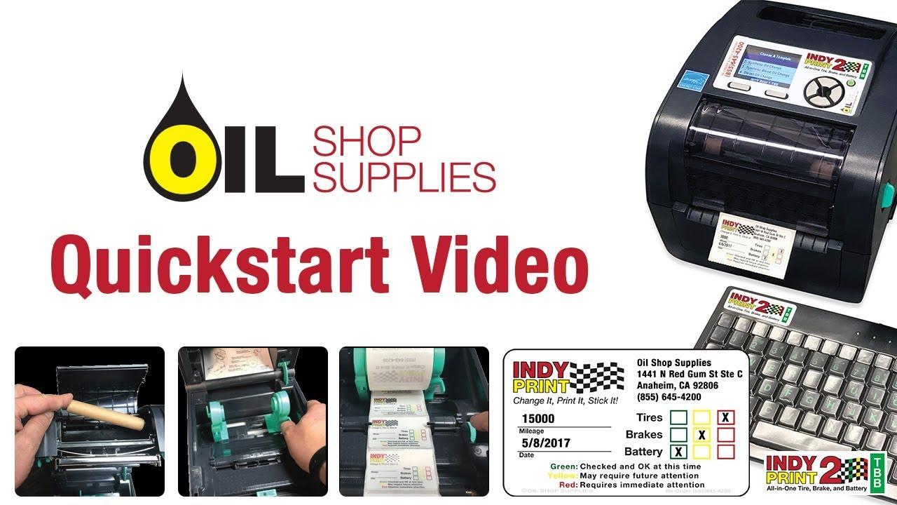 Oil Change Sticker Printer >> Oil Change Reminder Stickers Indy Print 2 Quickstart Video