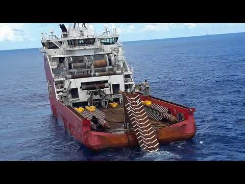Lançamento de ancora torpedo