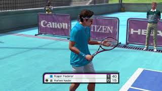 US OPEN - FEDERER VS NADAL - Virtua Tennis 4 PC GamePlay