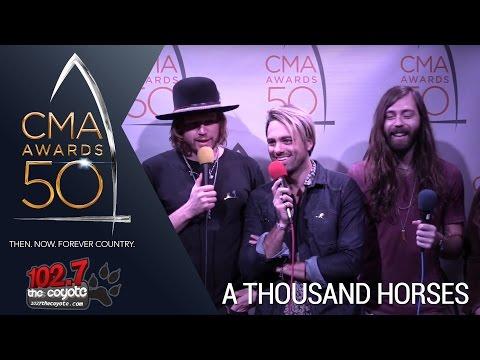 CMA Awards 50: A Thousand Horses talk Vegas party stories