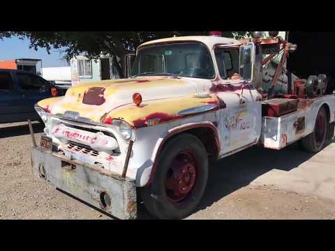 Patina 1957 Chevy 6400 Wrecker Tow Truck Stovebolt 261