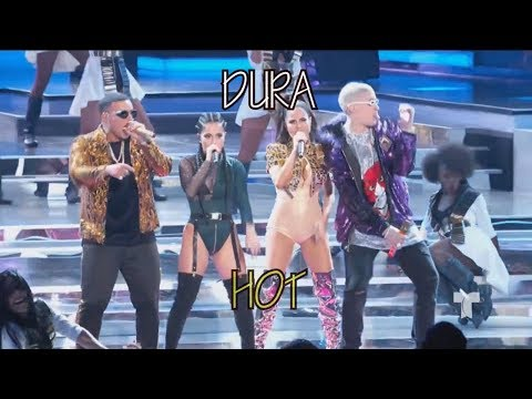Daddy Yankee - Dura (REMIX) ft. Bad Bunny, Natti Natasha & Becky G - English Translation
