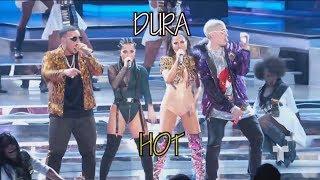 Daddy Yankee - Dura (REMIX) ft. Bad Bunny, Natti Natasha & Becky G - English Translation