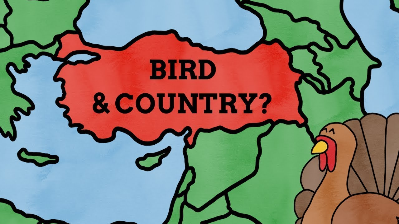Why Is Turkey The Name Of A Country & Bird? - YouTube Turkey Country Map on