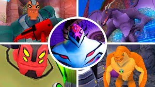 BEN 10: ALIEN FORCE - ALL BOSSES/TODOS CHEFES 1080p. (PS2/PSP/WII)