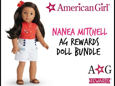 AMERICAN GIRL NANEA MITCHELL - AG REWARDS DOLL BUNDLE UNBOXING AND REVIEW
