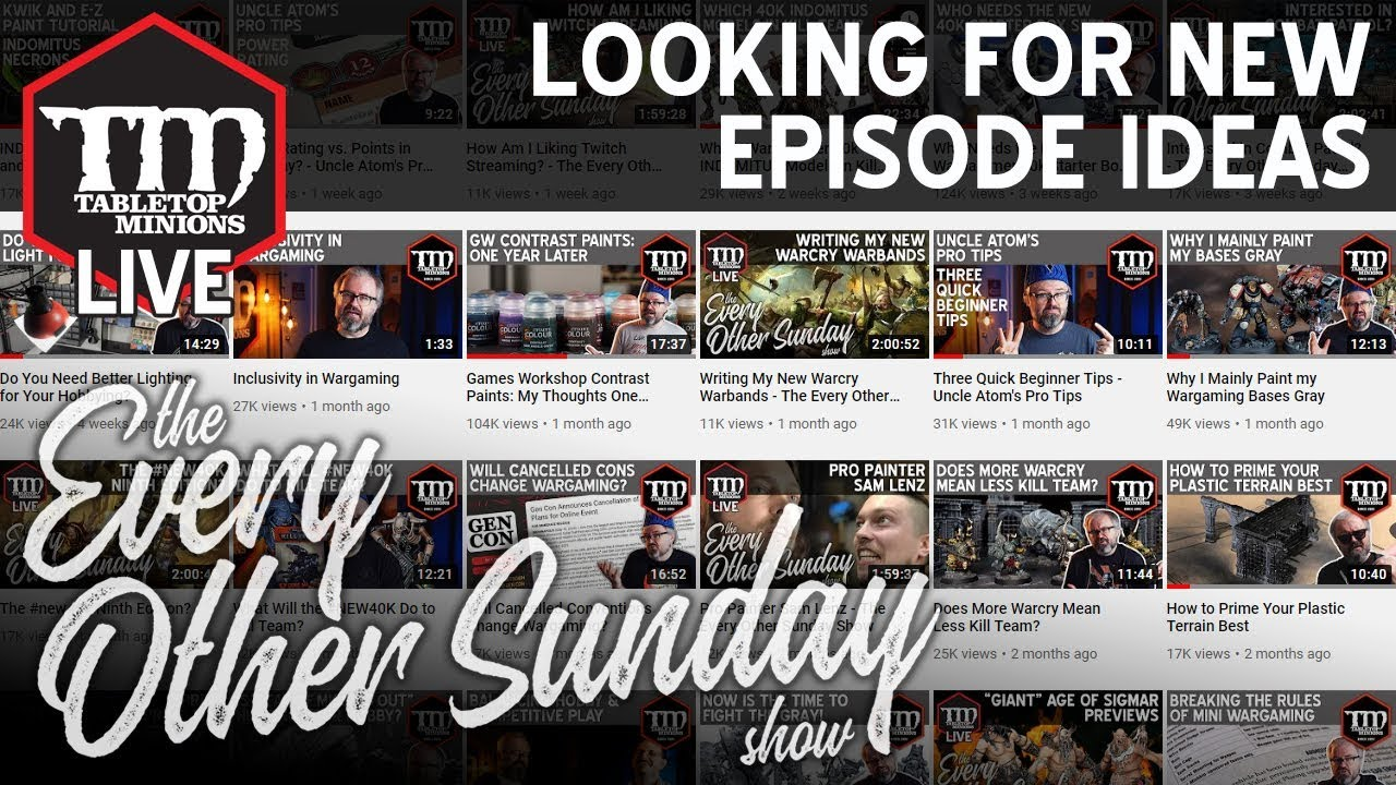 Looking for New Episode Ideas - The Every Other Sunday Show