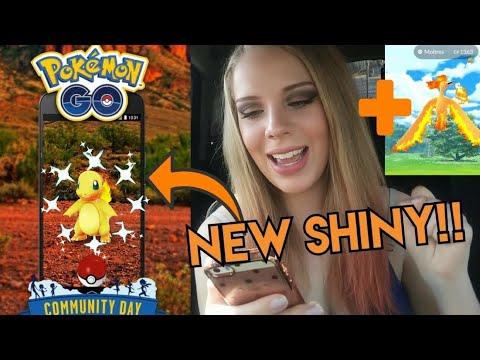 SHINY CHARMANDER! + Gyarados Evolution and Moltres Catch in Pokemon GO!