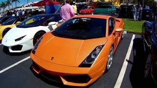 Lamborghini Gallardo at 5th Anniversary Cars & Coffee Palm Beach Car Show, Hollywood, Florida