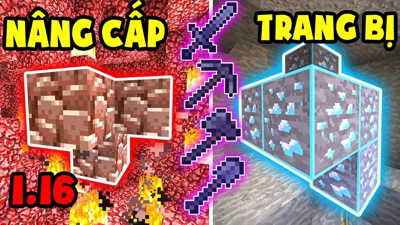 TÝ TIỀN TỈ – TÀN PHÁ ĐỊA NGỤC – NÂNG CẤP TRANG BỊ  – Minecraft Sinh Tồn 1.16 #8