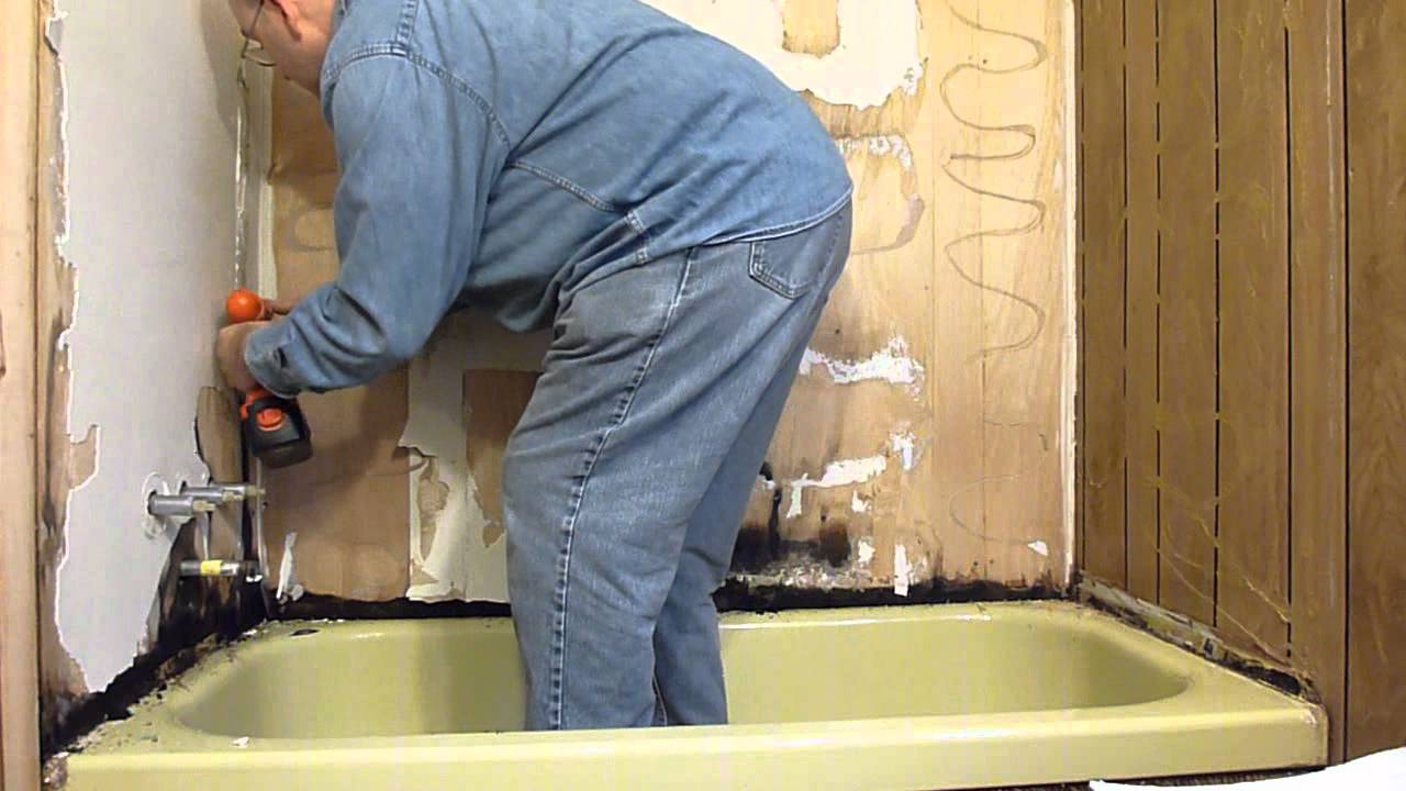 Tub Surround Project (part 1)   YouTube