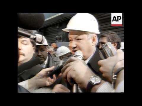 RUSSIA: BORIS YELTSIN VISITS LIPETSK
