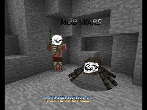 Играем в Mob-Wars на VimeWorld! Адовцы и Паудроны тащат?