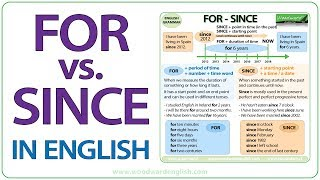 For Since Difference When To Use For And Since In English
