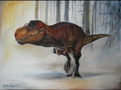 Painting of Naspolini's Trex - YouTube Dinosaurs T Rex