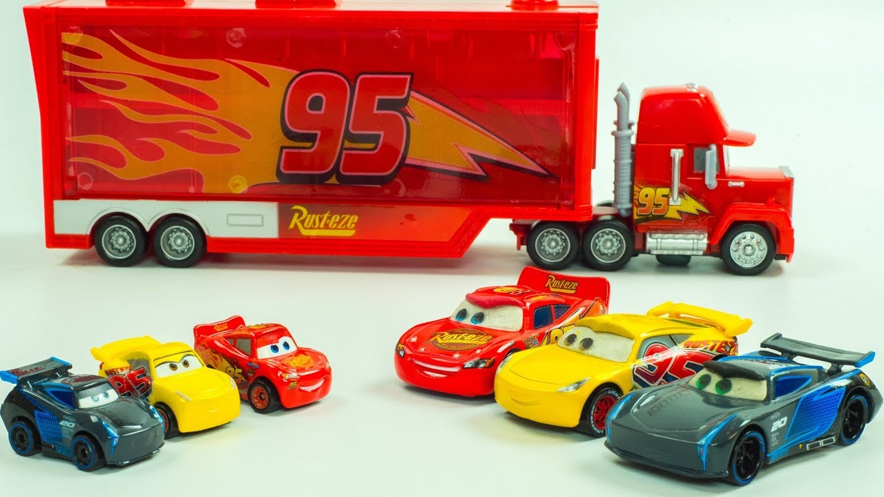 MINI RACERS STOPMOTION Lightning McQueen, Jackson Storm & Cruz Ramirez Disney Cars Toys Race