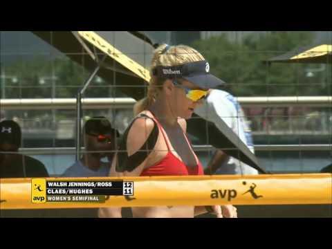 AVP New York City Open 2016 Women's Semi-Finals: Walsh Jennings/Ross vs Hughes/Claes