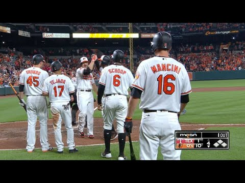 7/18/17: Davis Homers Twice As Orioles Rout Rangers