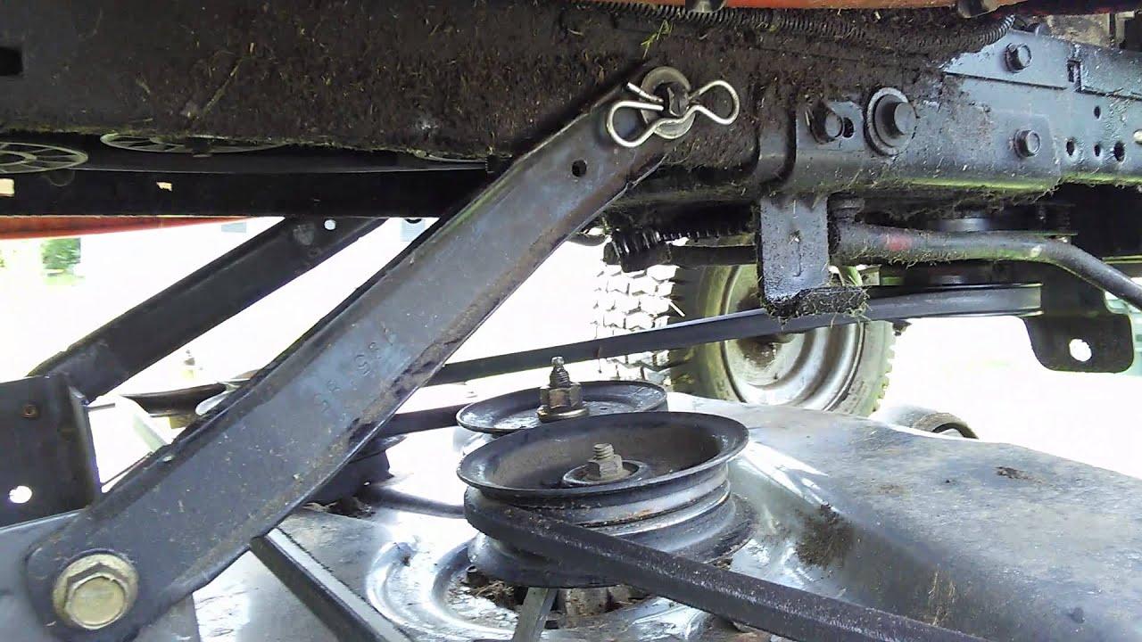 Craftsman 48 Inch Belt Diagram Husqvarna Riding Mower Assembly Model Lgt2554 Youtube