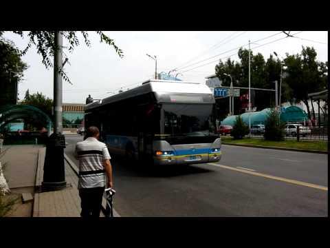 Electric Trolley Bus in Almaty, Kazakhstan Электрический автобус Алматы, Казахстан