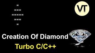 كيفية إنشاء رمز الماس في C/C++ برنامج