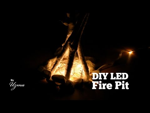DIY LED Fire Pit | Easy Do it Yourself Decoration Project!